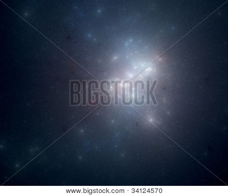 starry space scene with celestial objects
