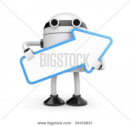 Robot with arrow