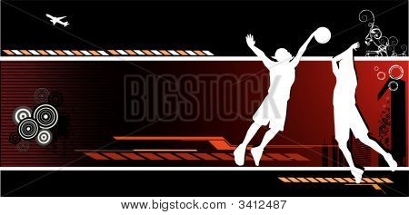 Basketball Vector Composition