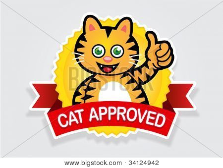 Cat Approved Seal / Sticker
