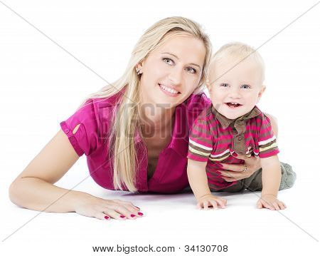 Happy Mother Playing With Child