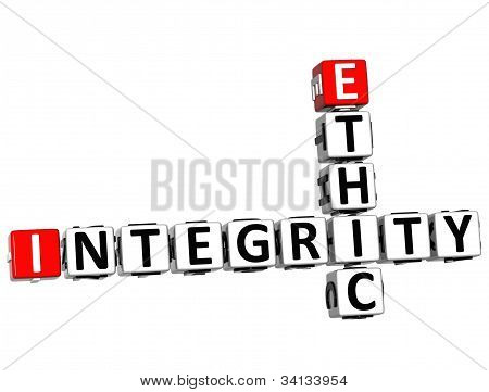3D Ethic Integrity Crossword