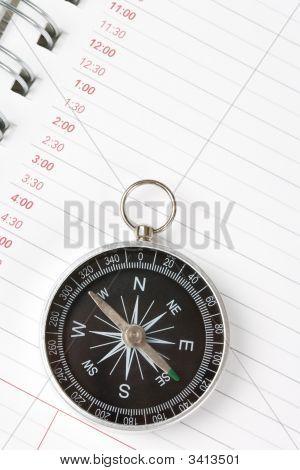 Brújula y Agenda Calendario