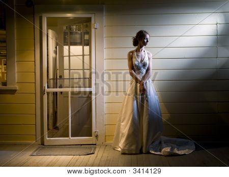 Bride On Back Porch