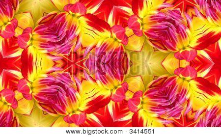Dahlia Seamless Tile Background