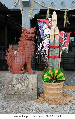 Shisa and New Year's Display