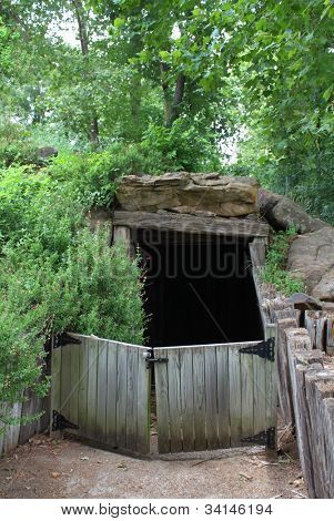 Entrance to a sod house