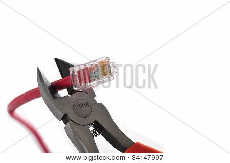 Wire Cutters Cat 5 Cable