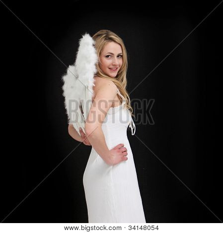 Angel In White Visiting Us On Earth
