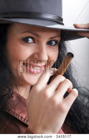 Girl With Cigar