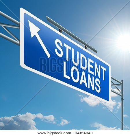 Concepto de préstamos de estudiante.