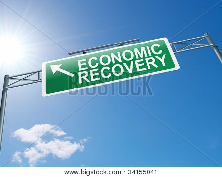 Economic Recovery Sign.
