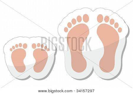 Footprint icon - baby, child and adult