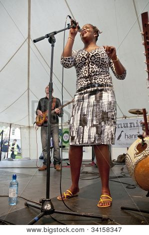 Cassa Afro performing live on the Global Community Stage