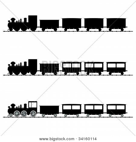 Train Vector Illustration Black Silhouette