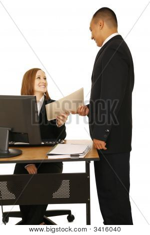 Isolated Shot Of Business Team Working
