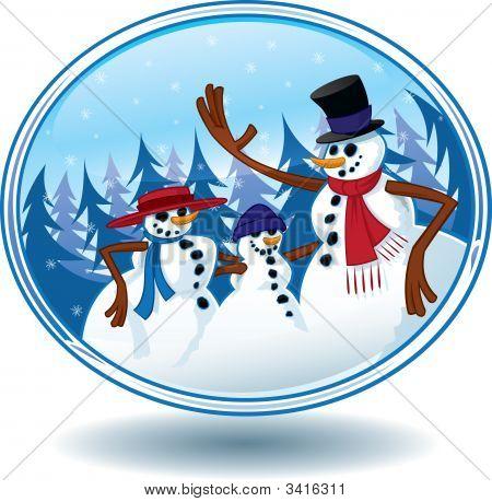 Christmas Snowman Snow Globe