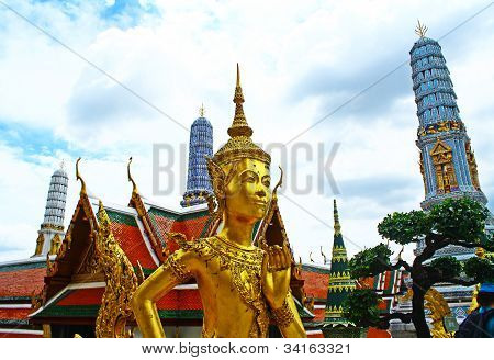 Thai sculpture at  Wat Phra Kaeo, Bangkok