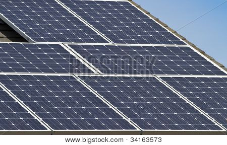 Close Up Of Solar Energy Array