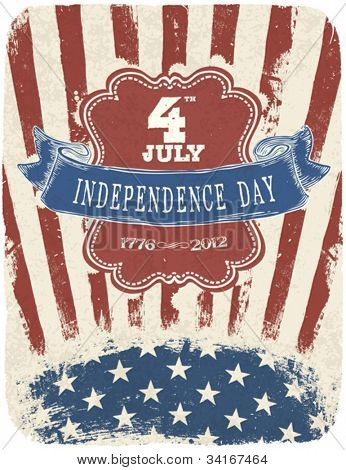 Independence Day Celebration Poster. Vector illustration, EPS 10