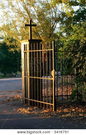 Church Gate In Evening Light
