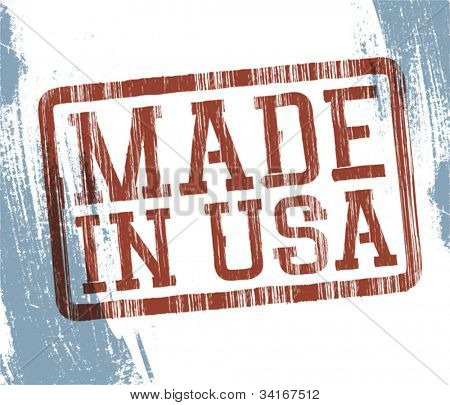 Made in USA stamp. Vector, EPS10