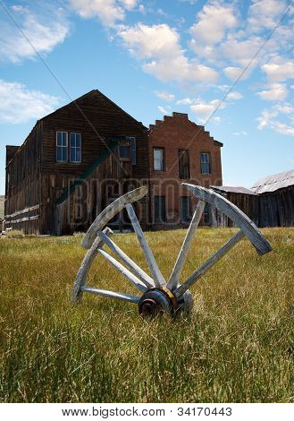 Wagon wheel at Bodie