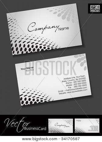 Abstract colorful bright color professional and designer business card template or visiting card set with halftone effect. EPS 10.
