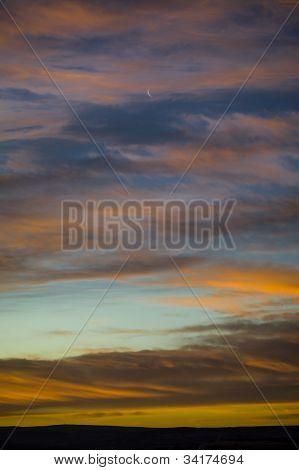 Moonrise & Clouds