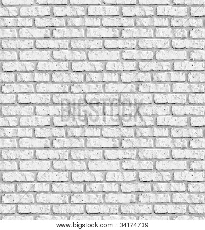 White brick wall seamless background - texture pattern for continuous replicate.  See more seamless backgrounds in my portfolio.