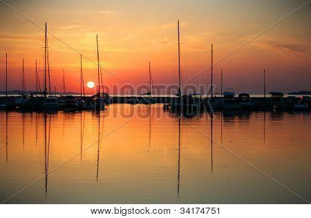 Beautifull sundown on sea