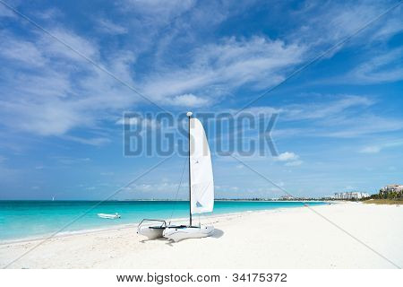 Grace bay beach at Providenciales on Turks and Caicos islands