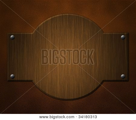 Wooden Board on Leather