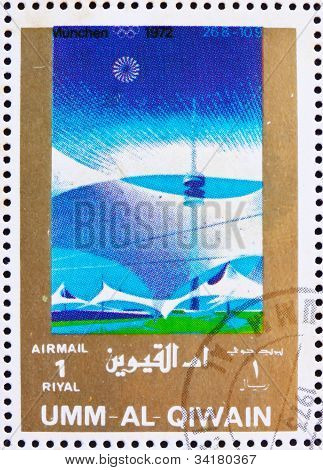 Postage stamp Umm al-Quwain 1972 Munich 1972, Olympic Games of t