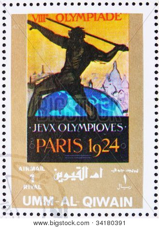 Postage stamp Umm al-Quwain 1972 Paris 1924, Olympic Games of th