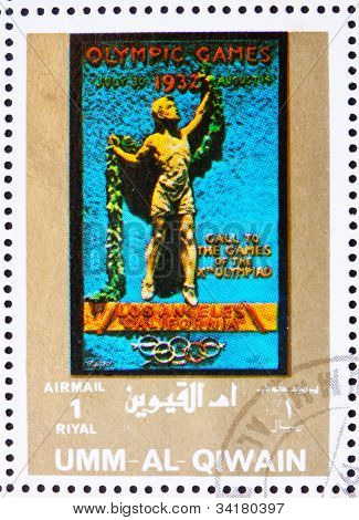 Postage stamp Umm al-Quwain 1972 Los Angeles 1932, Olympic Games