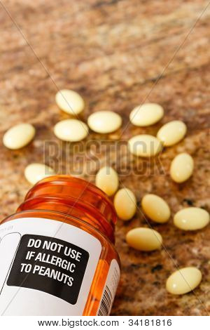 Prescription Medicine With Peanut Allergy Warning Label