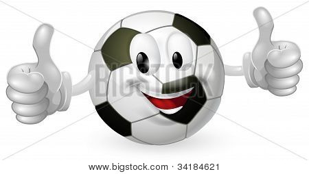 Mascote de bola de futebol