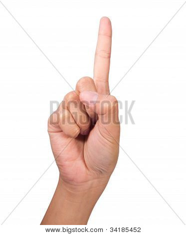 Image Of Counting Woman's Right Hands Finger Number (1)