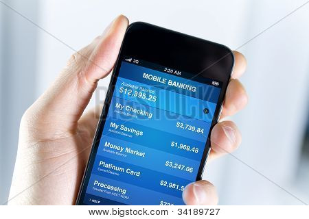 Mobile Banking op Apple Iphone