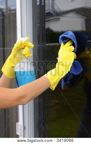Cleaning A Window