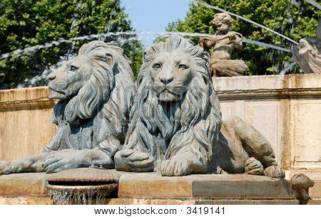 Lion Statues, France