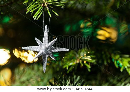 Decorative Silver Star Ornament