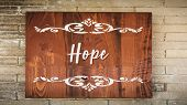 Street Sign The Direction Way To Hope poster