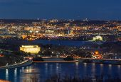 Panorama Top View Scene Of Washington Dc Down Town Which Can See United States Capitol, Washington M poster