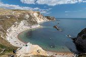 Landscape Photo Of Man O War Beach At Durdle Door In Dorset. poster
