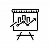 Black Line Icon For Seo-training Seo Training Website Technology poster