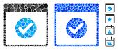 Ok Calendar Day Mosaic Of Round Dots In Variable Sizes And Color Tinges, Based On Ok Calendar Day Ic poster
