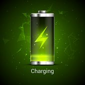 Battery Charge Full Power Energy Level. Recharge Battery Indicator. Low Power Mibile Fuel poster