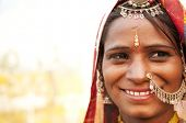 Portrait of a traditional clothing Indian smiling
